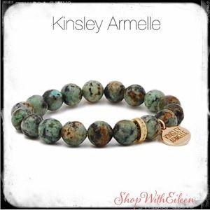 Kinsley Armelle ETERNITY TORTOISE STRETCH BRACELET